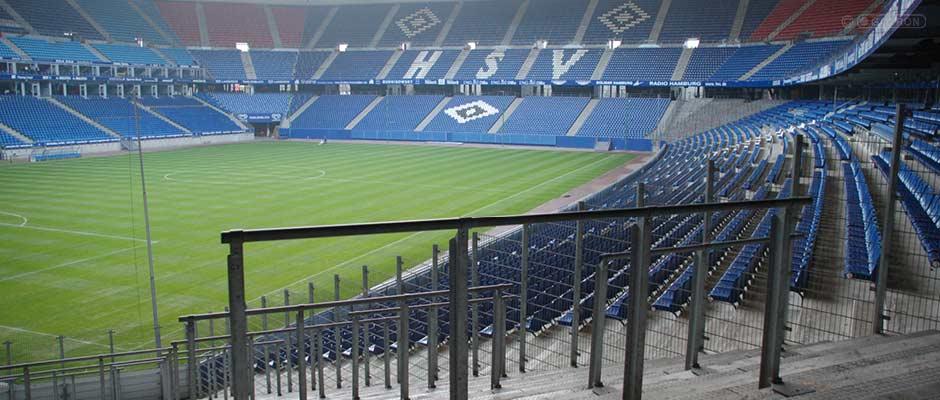 Wellenbrecher im Stadion am Volkspark in Hamburg