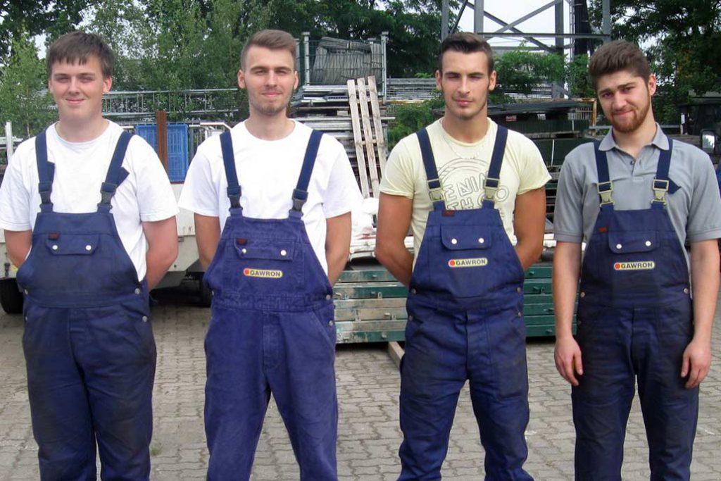 Die Metallbauer Azubis von Gawron & Co.
