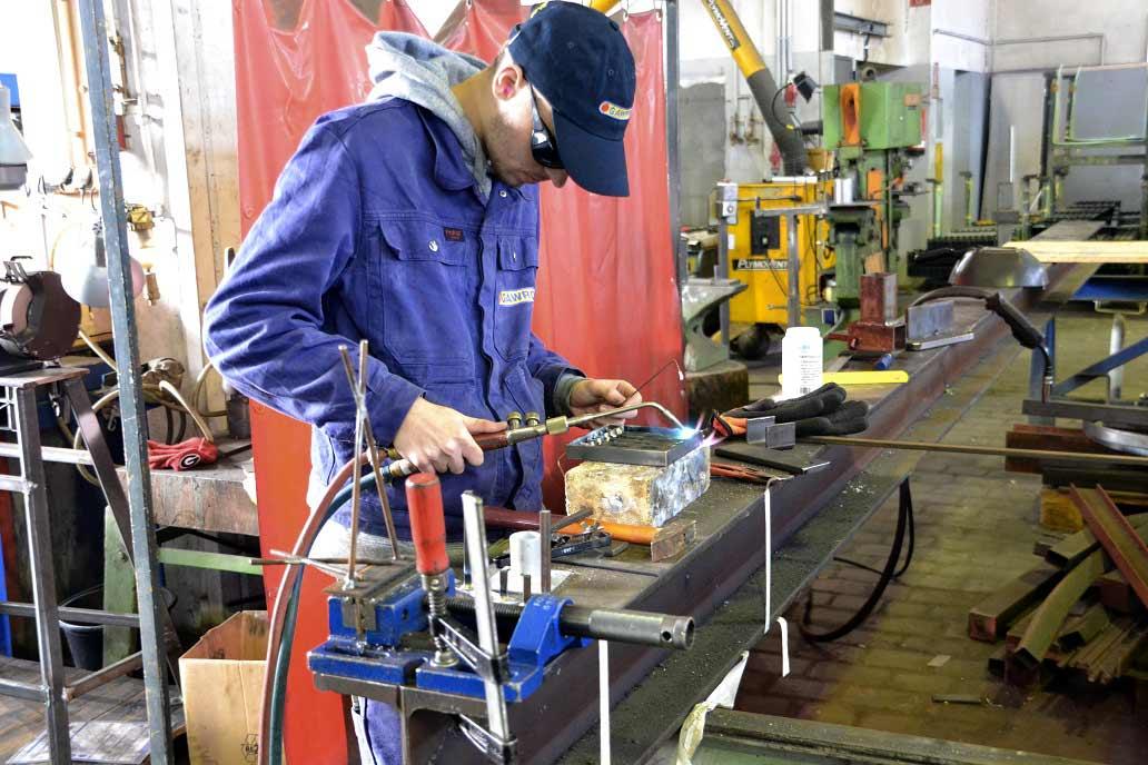 Ausbildung zum Metallbauer in der Lehrwerkstatt von Gawron & Co: der Beginn einer aussichtsreichen Karriere bei Gawron.