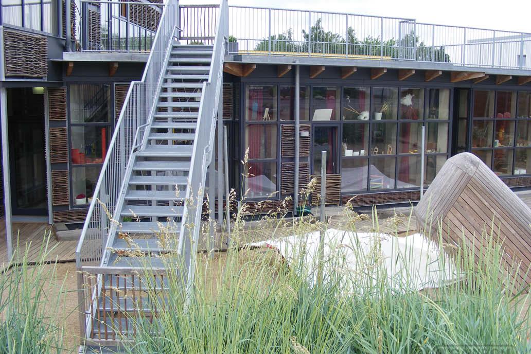 Treppe Geländer Dachterasse Stahlbau