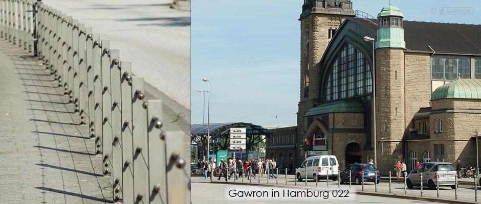 Geländer vor dem Hauptbahnhof