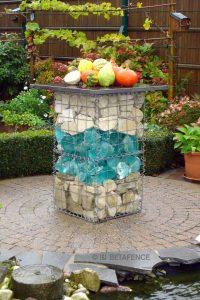 Gartentisch aus Gabionenkörben