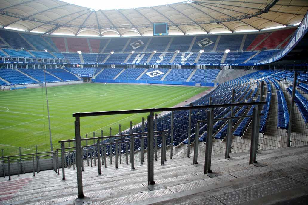 Wellenbrecher im Volksparkstadion Hamburg