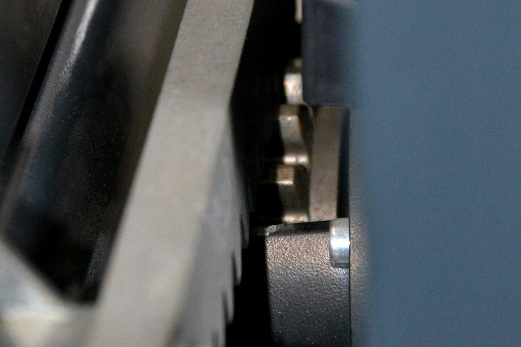 Detail eines Antriebszahnrads