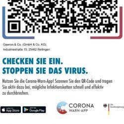 Image Bild für das Einchecken mit der Corona-Warn-App.