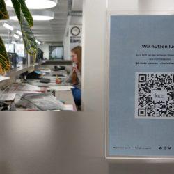 Anmelden bei Gawron mit derm QR-Code der Luca-App