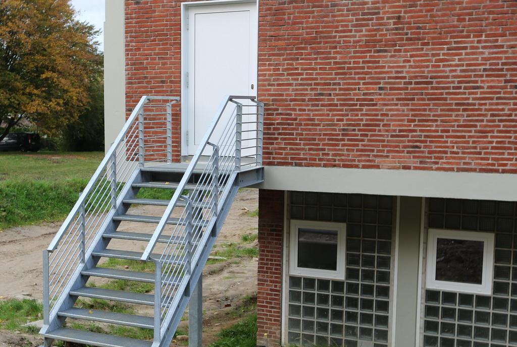 Fluchttreppe, Stahlbau Schlosserei Gawron
