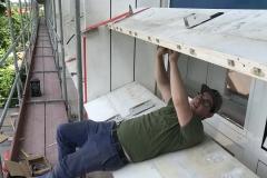 Sonnenschutz, Stahlkonstruktion, Denkmalschutz, Gawron
