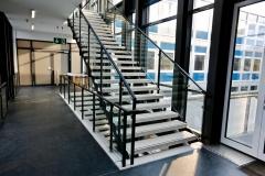 Innentreppe, Geländer, Treppe, Galsfüllung Stahlbau Schlosserei Gawron
